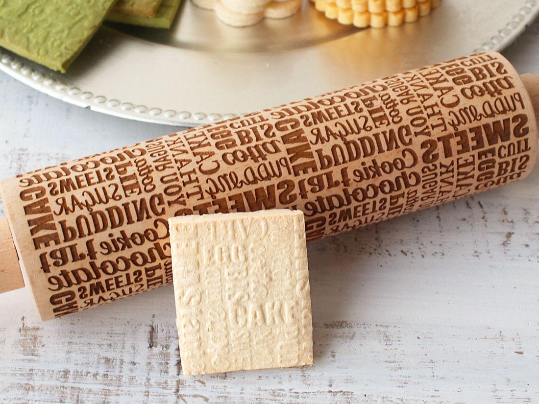 cotta 木製クッキーローラー レター