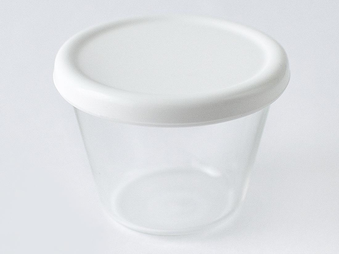 cotta シリコン蓋付きガラスプリンカップ