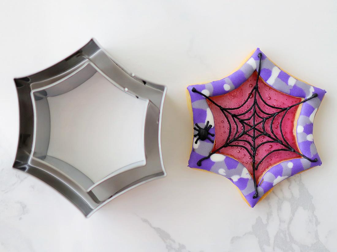 cotta ハロウィンクッキー型 蜘蛛の巣