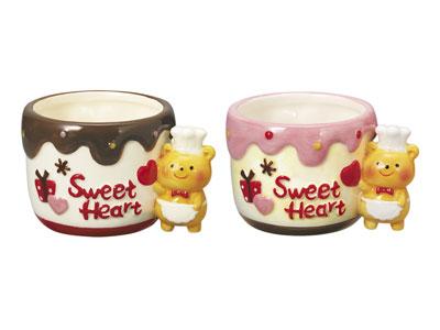デザートカップ くまちゃんチョコレートカップ(2色アソート)