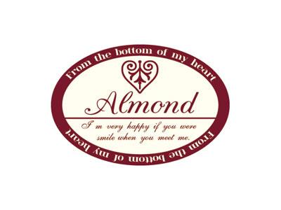 ヨーグルト瓶シール アーモンド