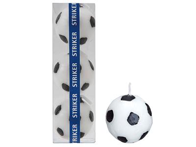 サッカーボールキャンドル(3個入)