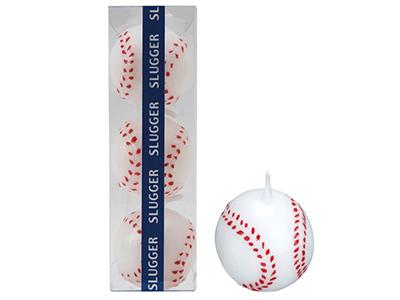 ベースボールキャンドル(3個入)