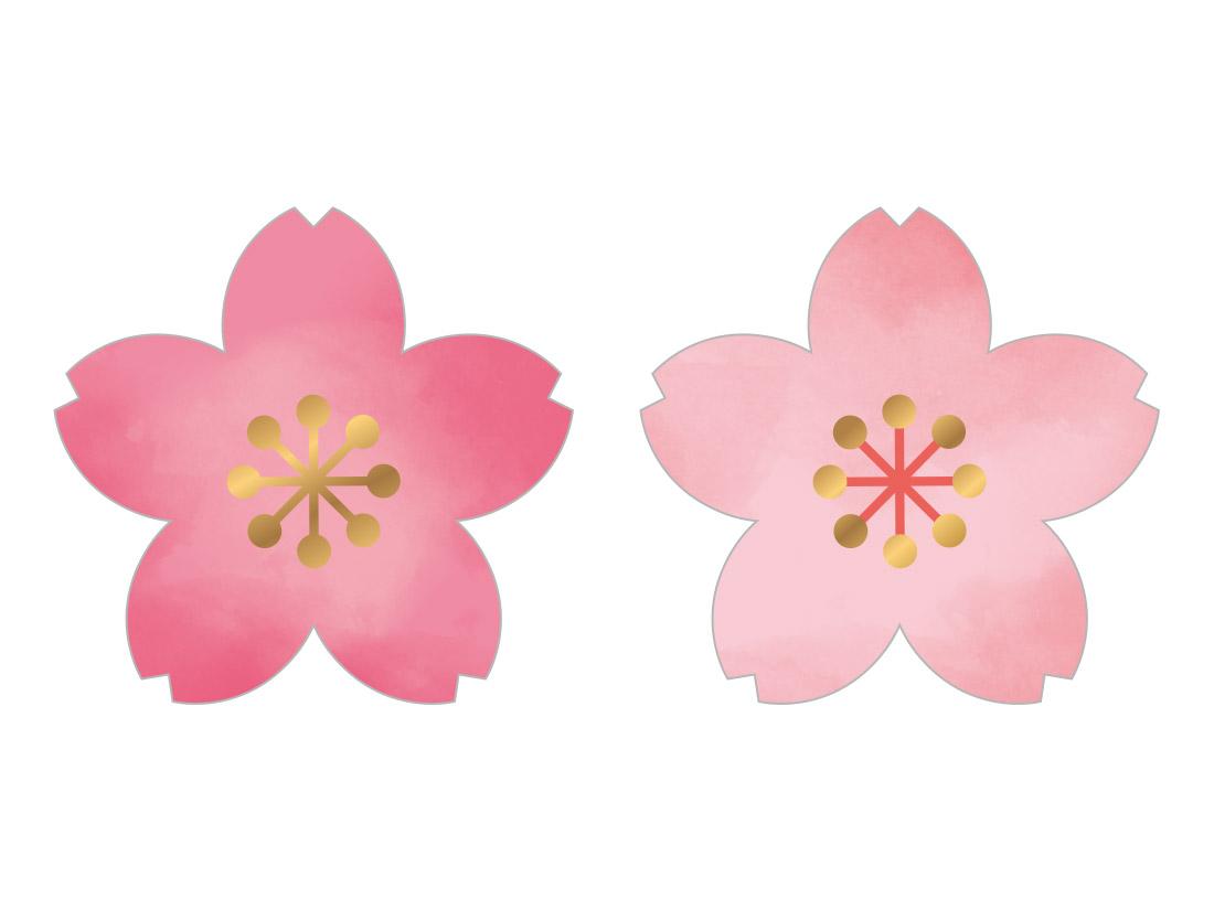 シール 桜