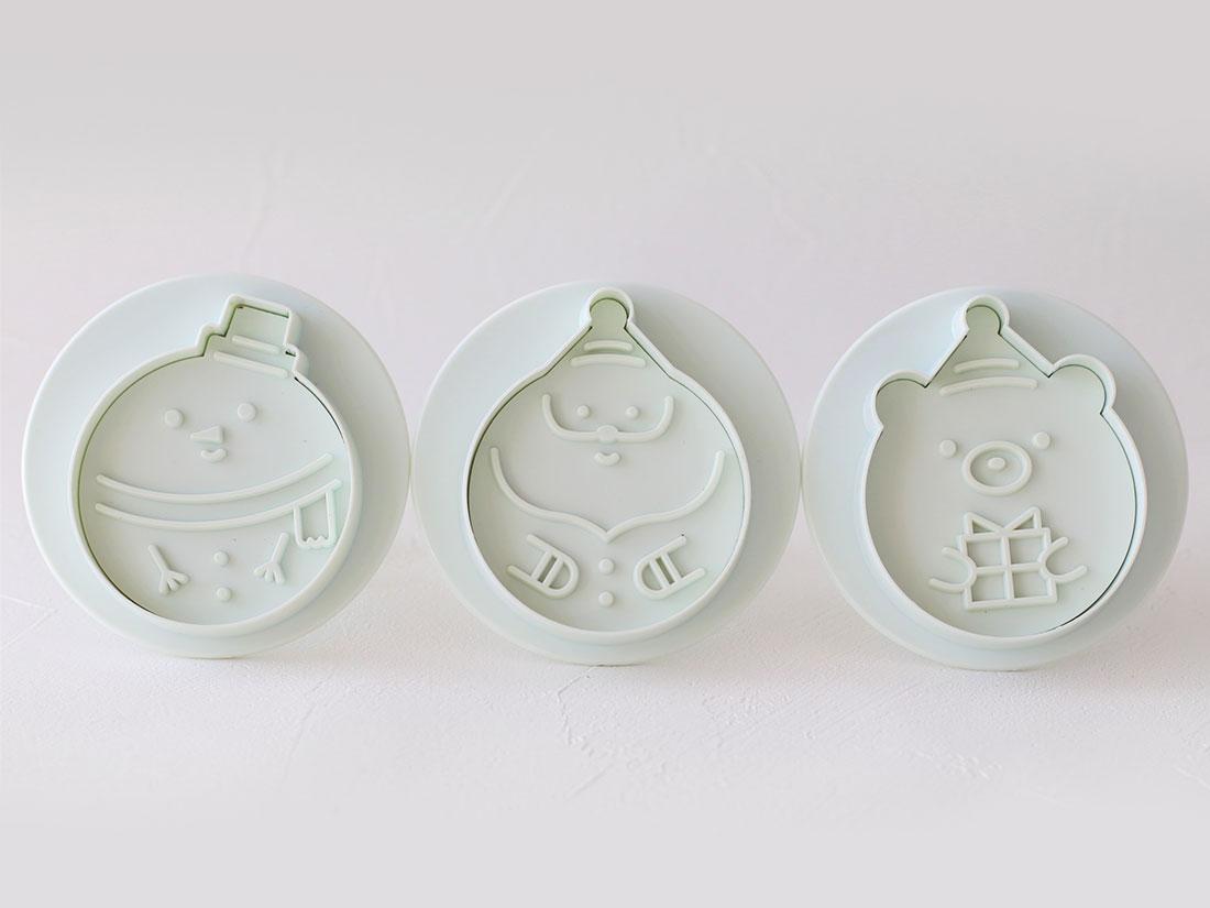 cotta まんまるクッキー型(ゆきだるま、サンタ、くま)