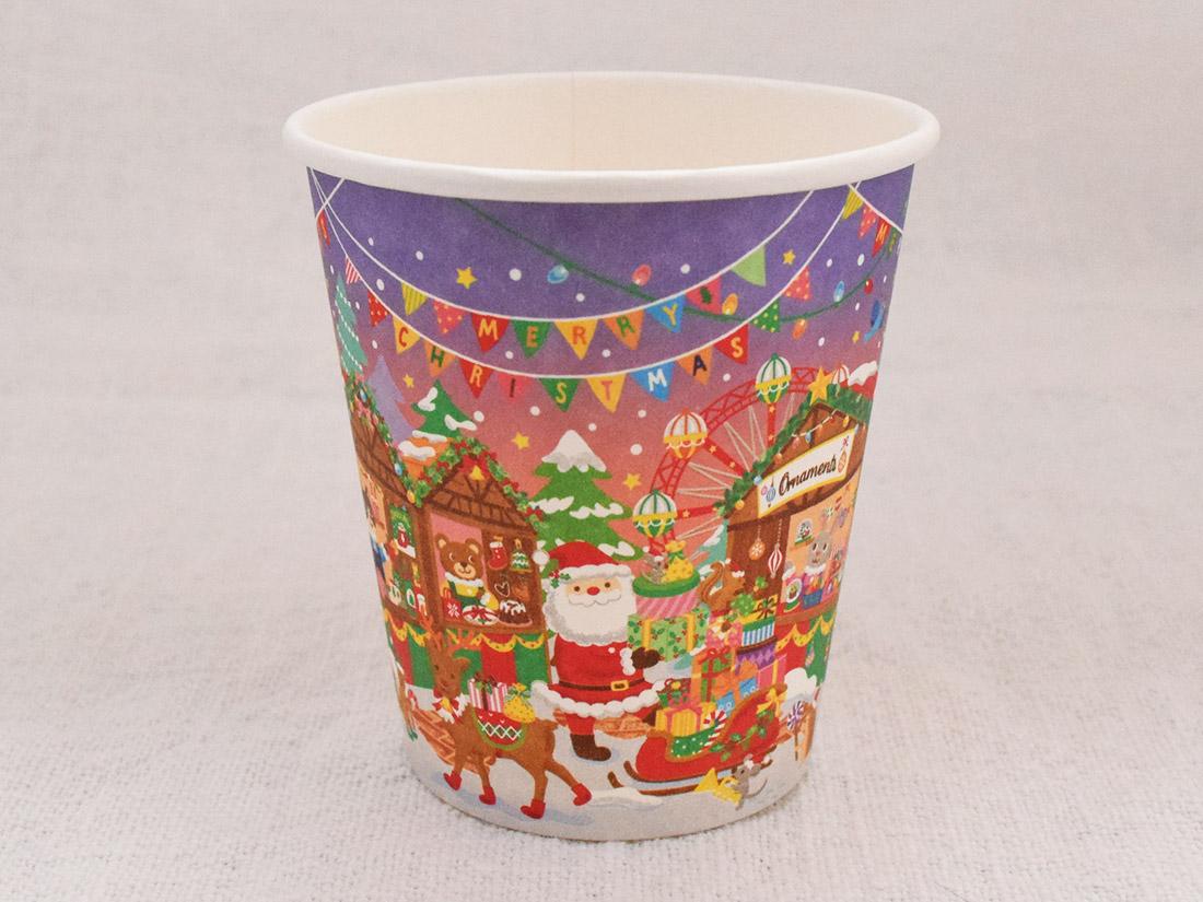 ペーパーカップ 200ml 12P クリスマスマーケット