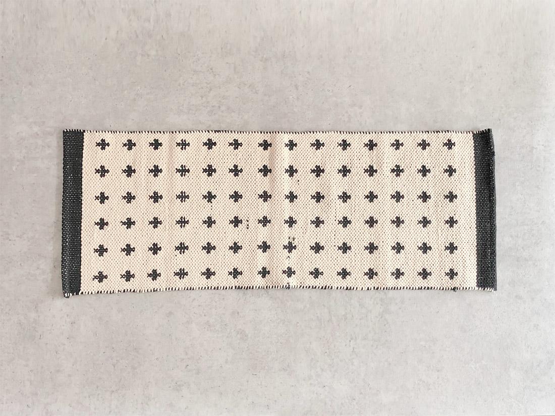 cotta キッチンマット クロス ブラック 45×120
