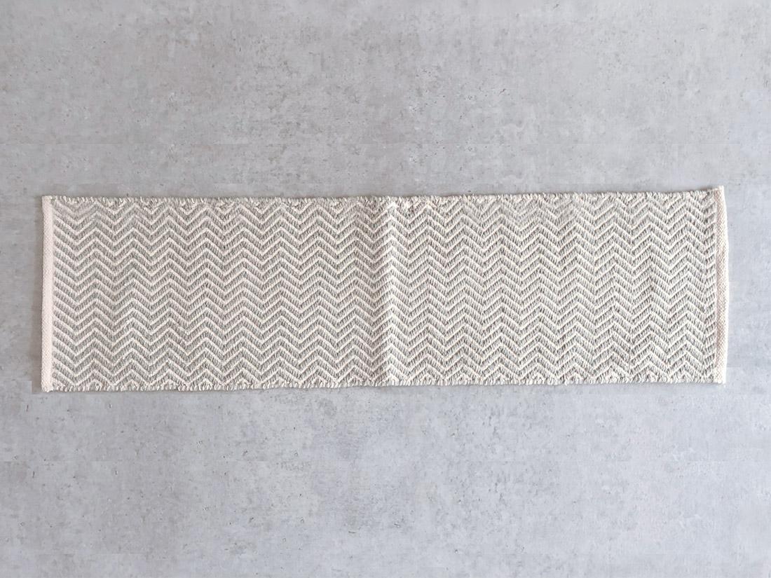 cotta キッチンマット ウェーブ グレー 45×180