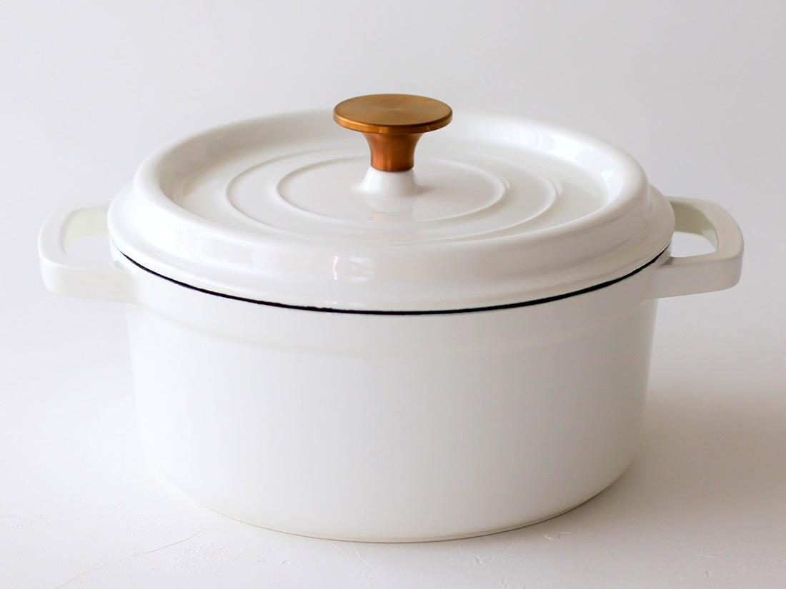 cotta 鋳物ホーロー鍋 ホワイト