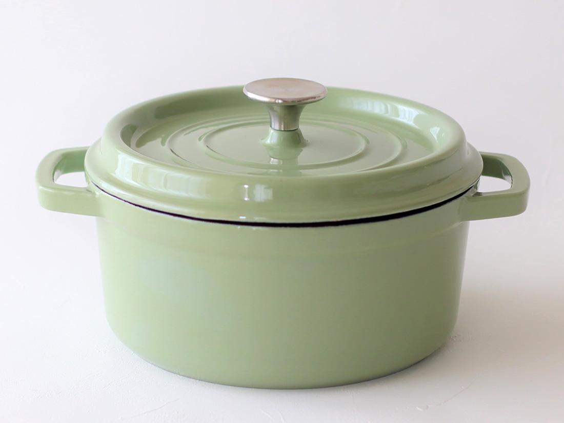 cotta 鋳物ホーロー鍋 グリーン