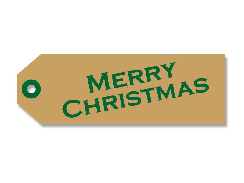 クリスマス ペーパータグ ミニ ロゴG(20枚入)