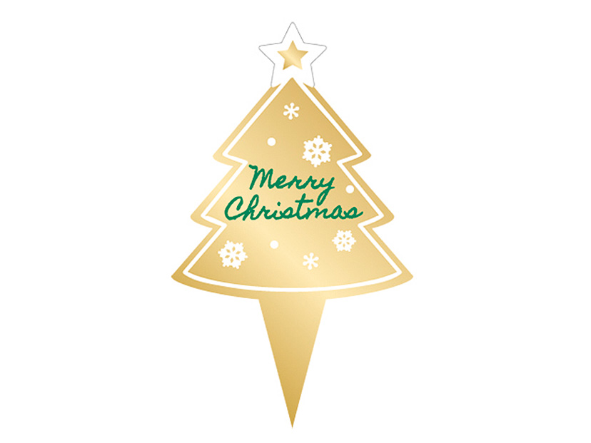 クリスマス ゴールドツリーピック
