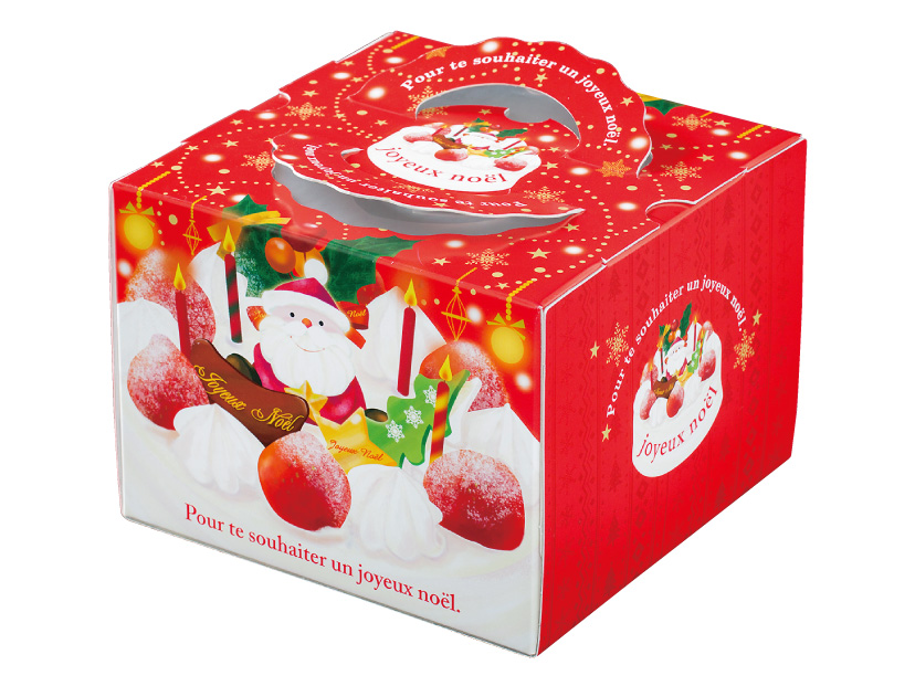 クリスマス デコ箱 TD スマイル 5寸(トレーなし)