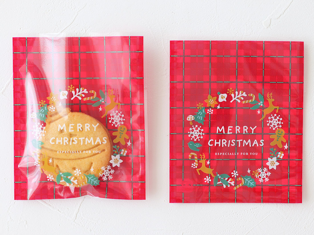 cotta ガス袋クリスマスリース 100×120mm