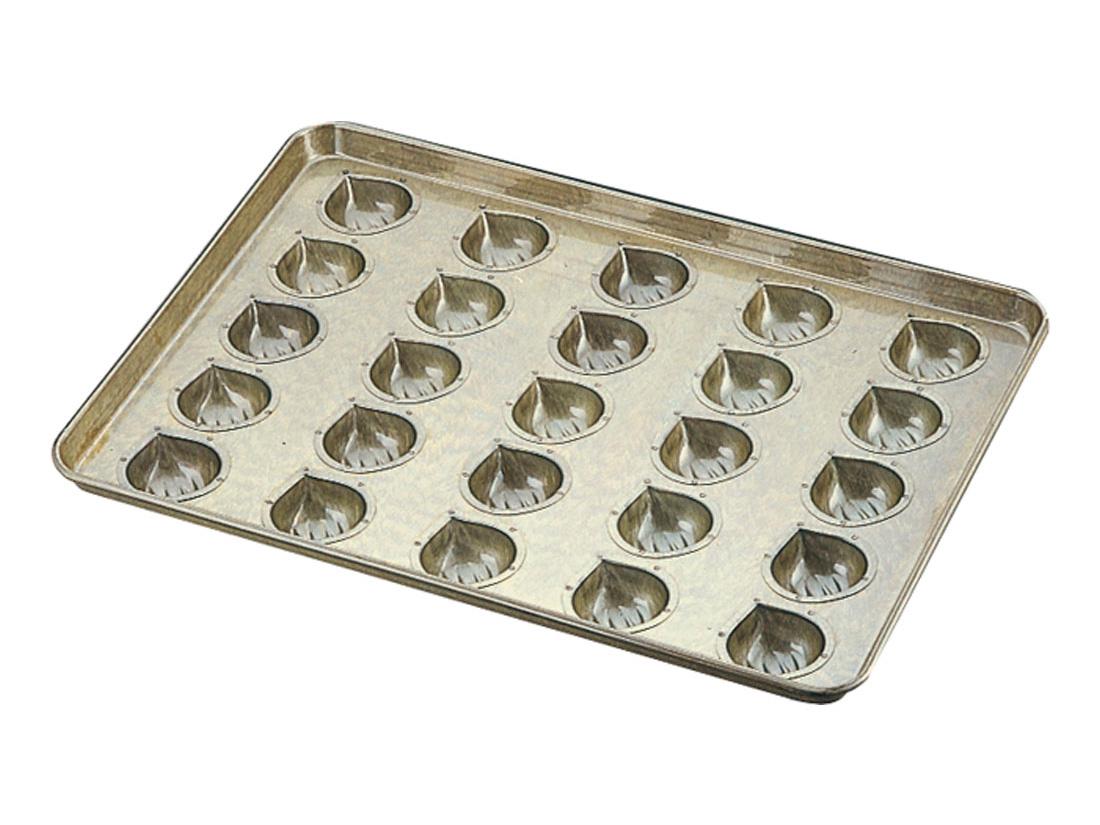 千代田金属 シリコン加工 マロンケーキ型天板 (25ヶ取)