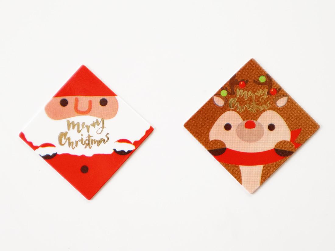 ケーキピック サンタ&トナカイ(2柄×10片)