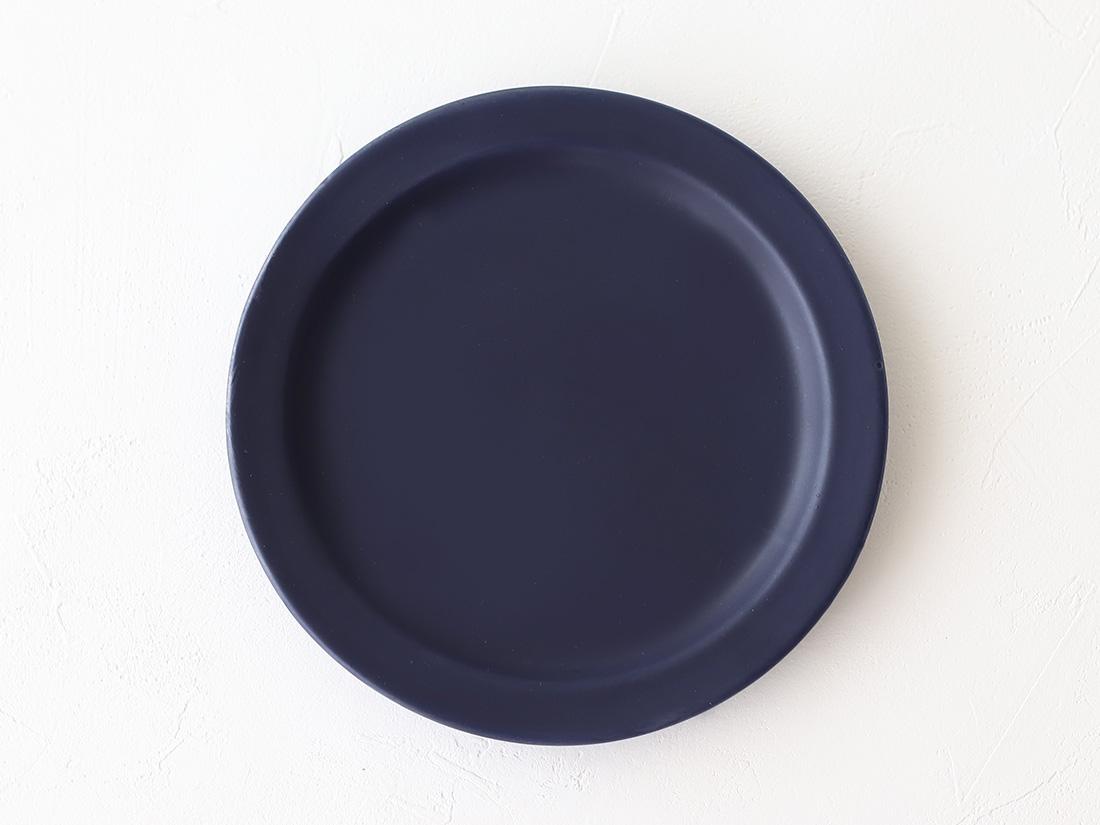 陶器 豆皿 丸ネイビー