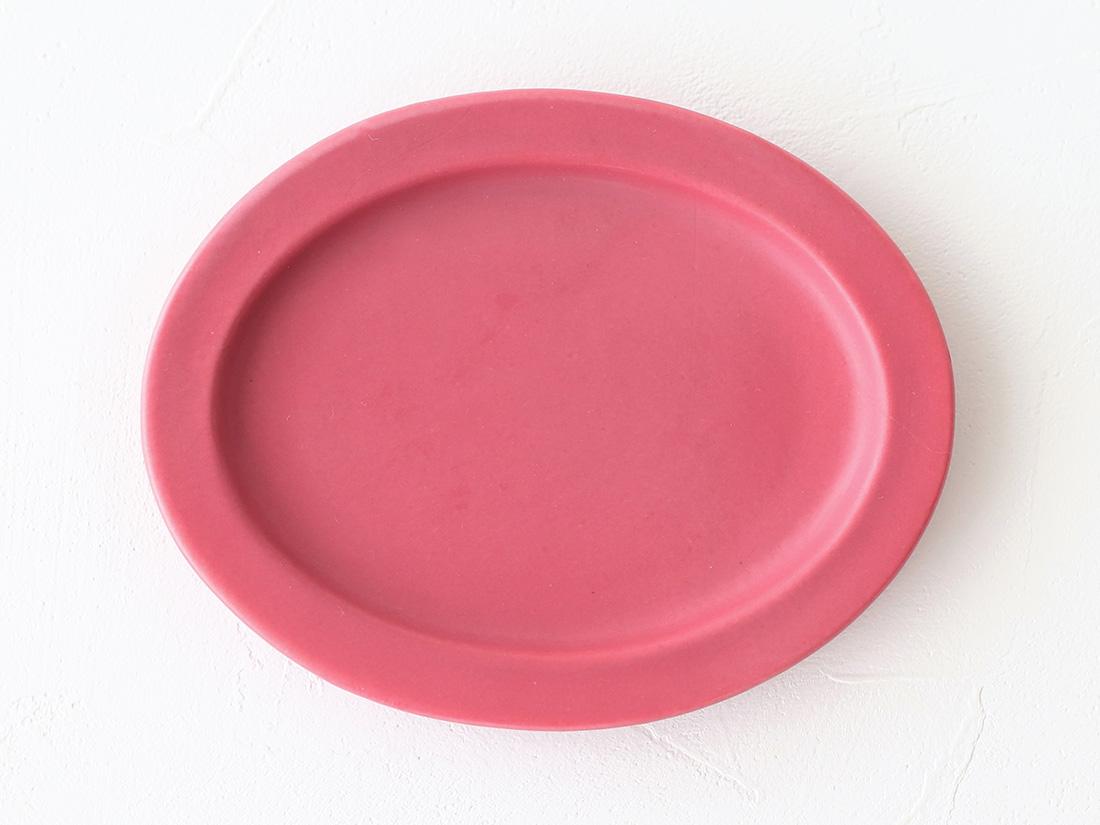 陶器 豆皿 オーバルピンク