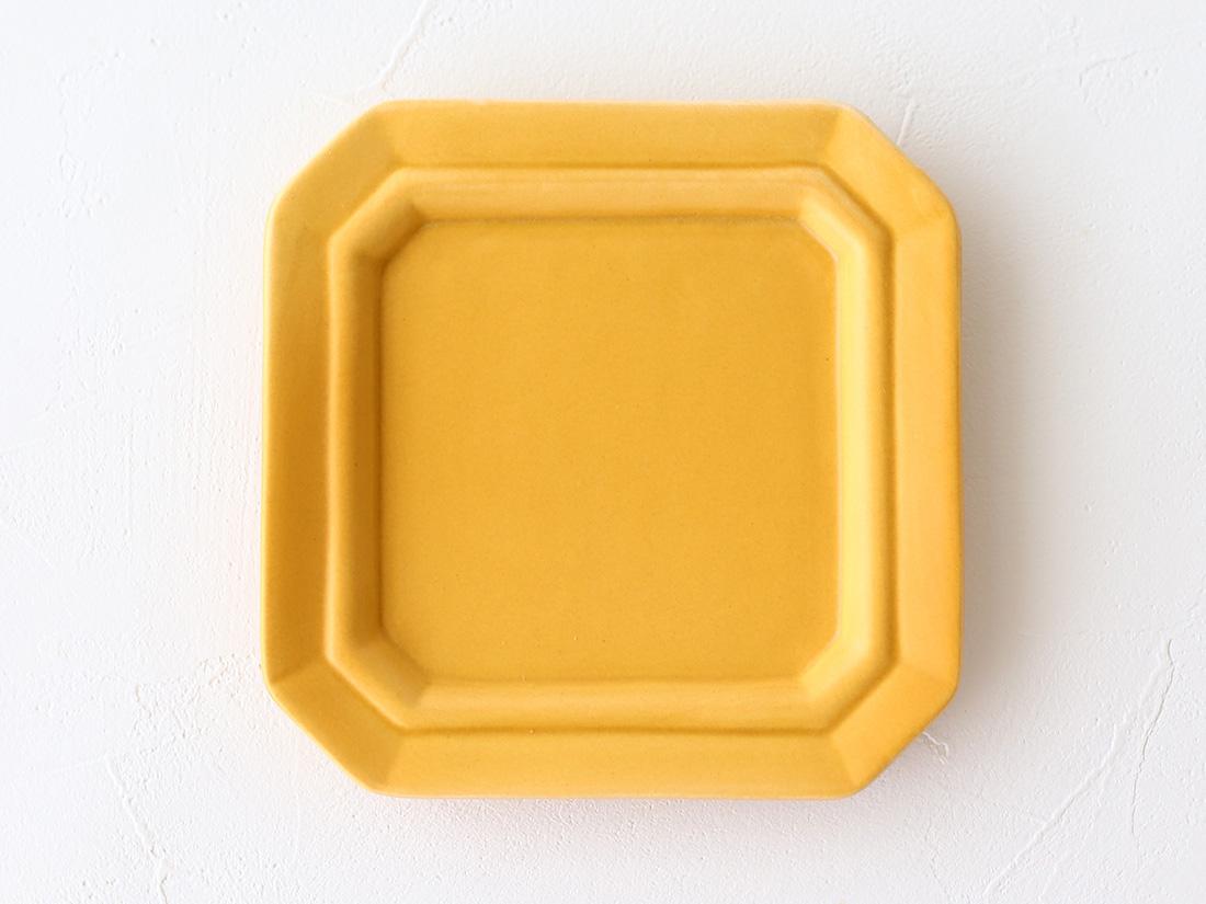 陶器 豆皿 八角イエロー