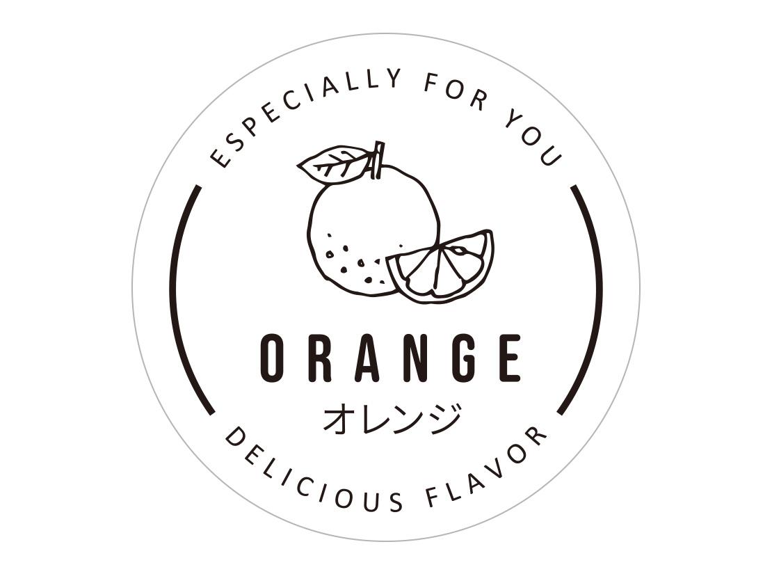 透明フレーバーシール オレンジ