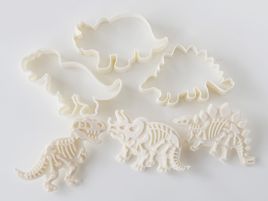 恐竜の化石クッキー型 3個セット
