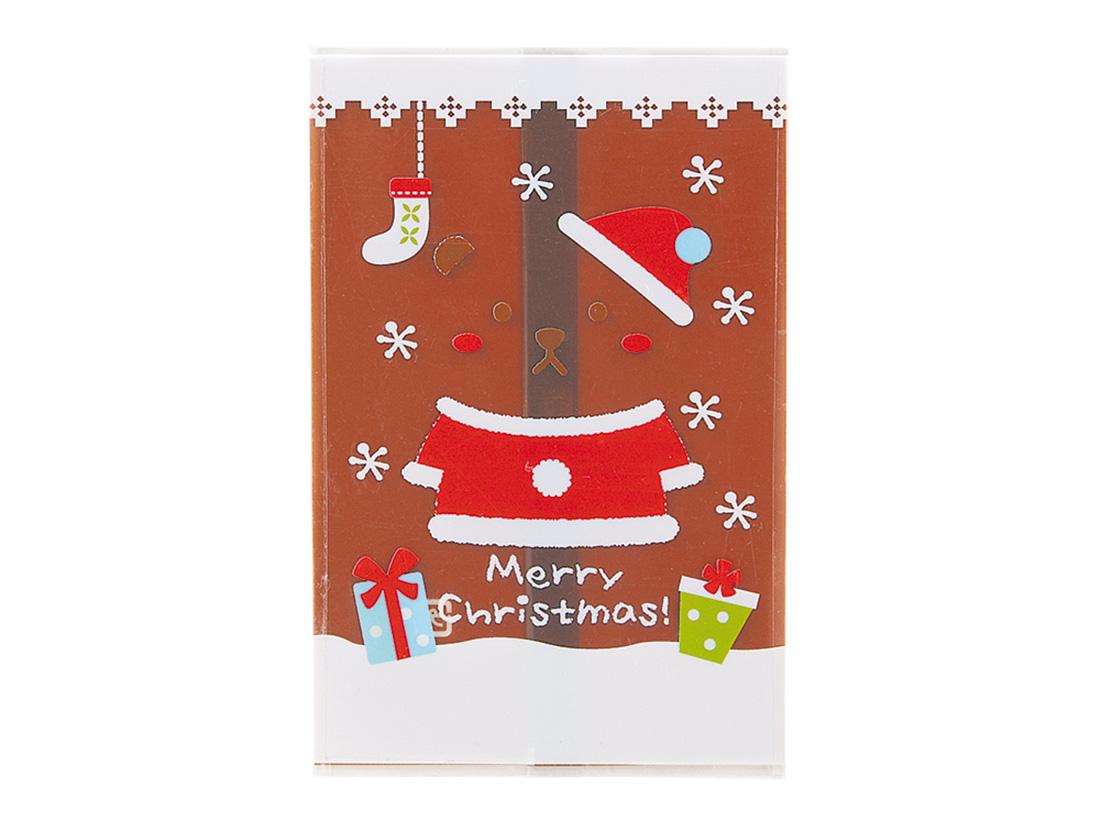クリスマスベアーガス袋ブラウン