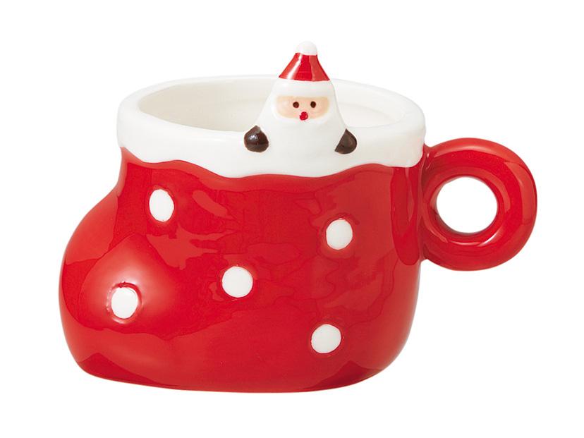 クリスマスドットブーツカップ