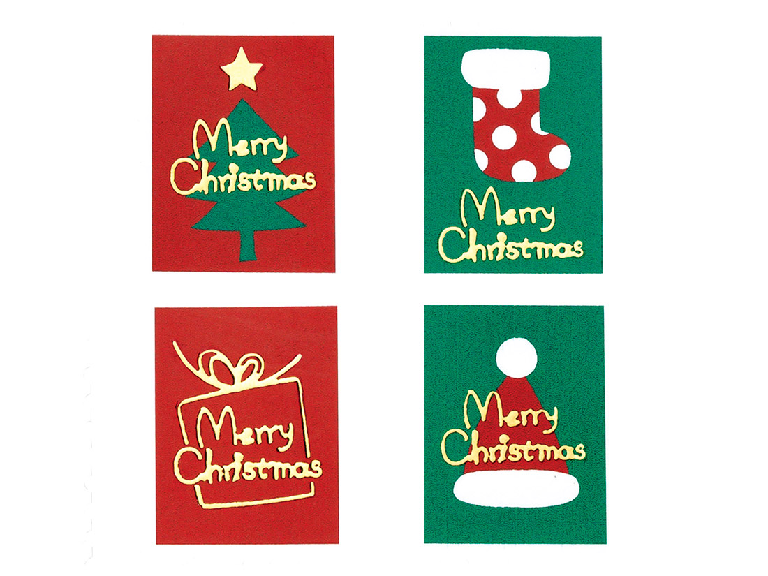 クリスマスシール クリスマススタンプ(8片×4種類入)