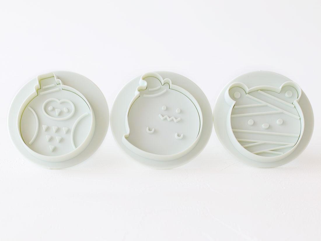 cotta まんまるクッキー型(ふくろう・おばけ・ミイラくま)