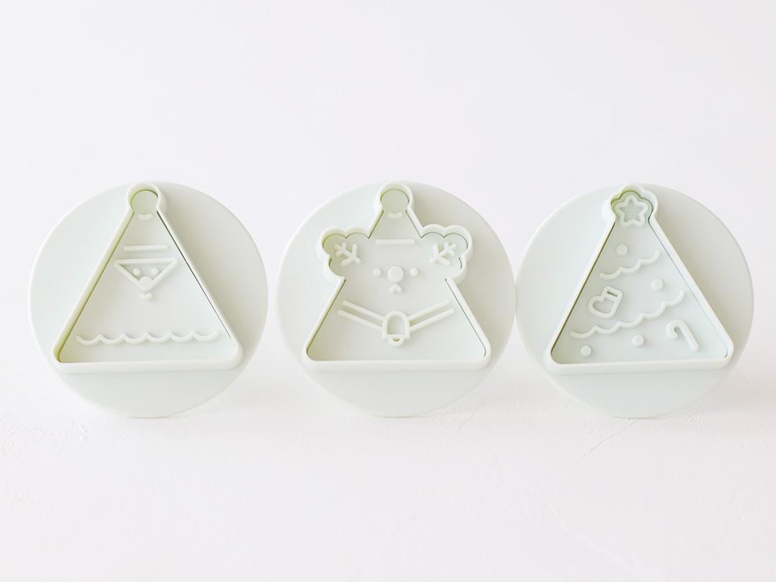 cotta さんかくクッキー型(サンタ・トナカイ・ツリー)