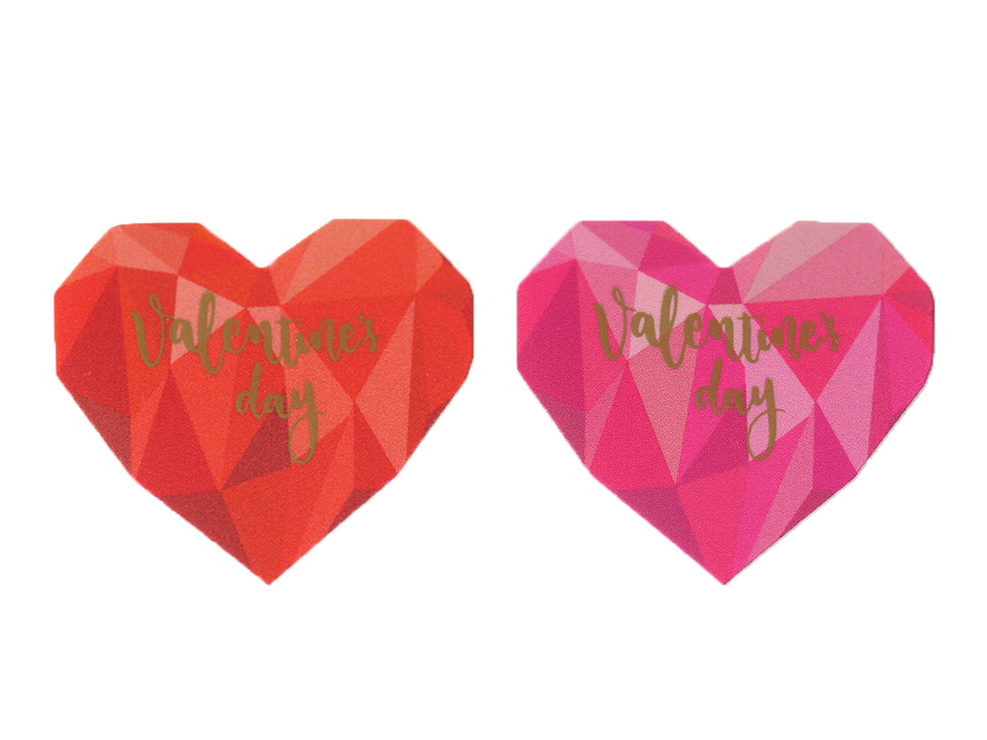 cotta ケーキピック バレンタインハート(2柄×5片)