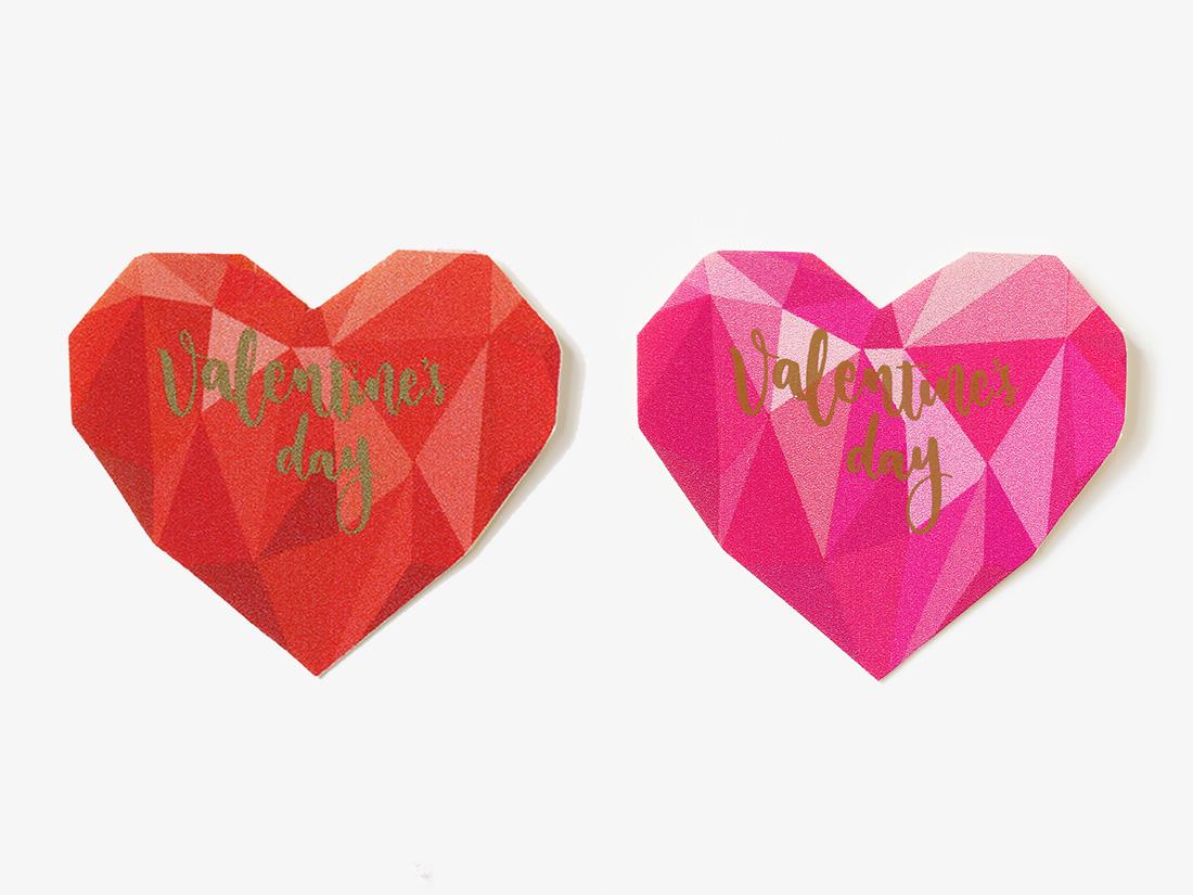 cotta バレンタインハートシール(2柄×5片)