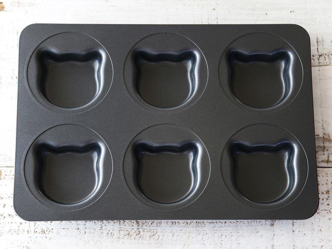 cotta イングリッシュマフィン型 ねこ(6個取り)