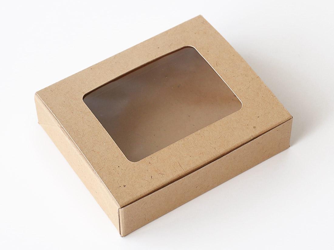 cotta クラフト窓付き箱