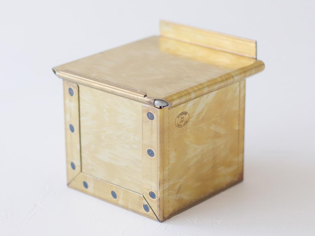 松永製作所 黄金キューブ食パン型 7.5cm 蓋付き