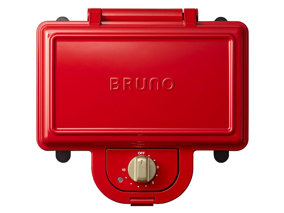 BRUNO ホットサンドメーカー ダブル レッド