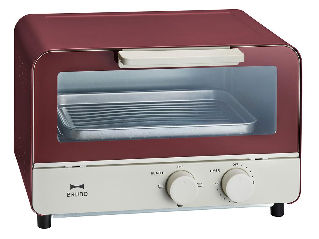 BRUNO オーブントースター レッド
