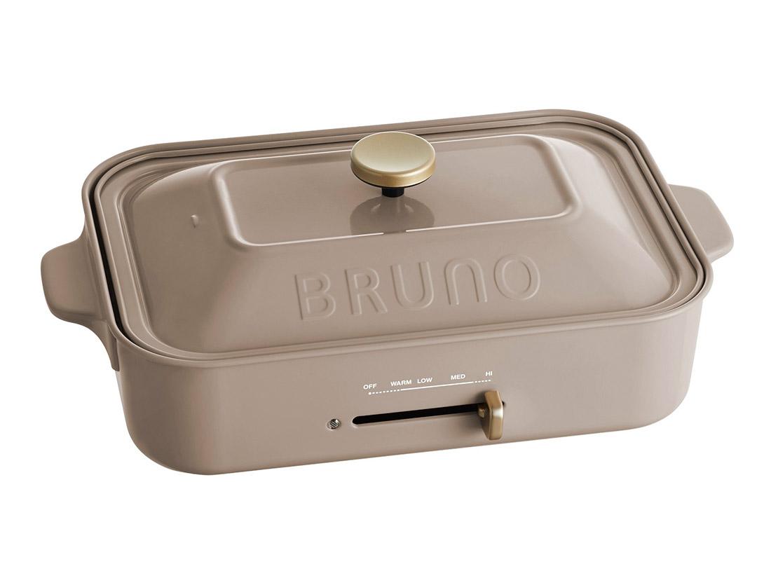 BRUNO コンパクトホットプレート グレージュ