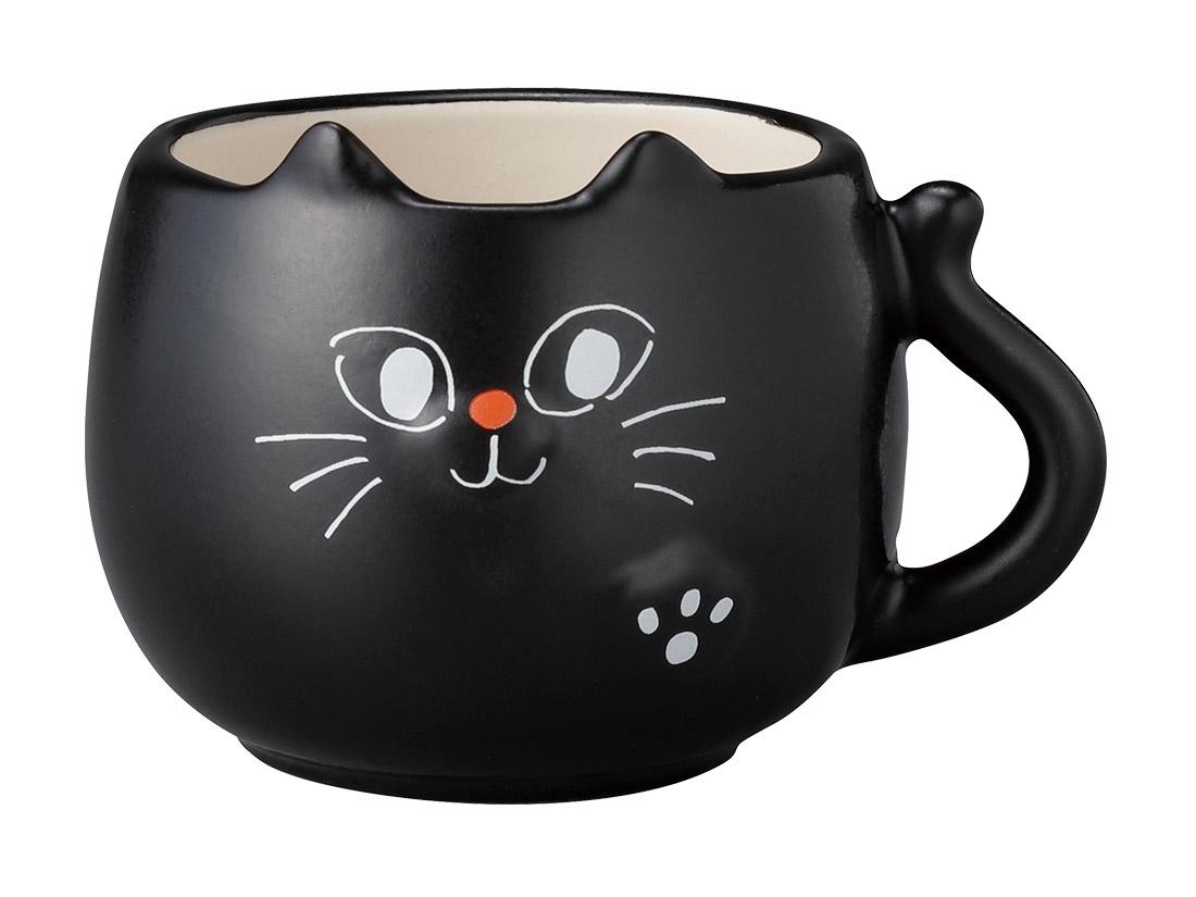 デザートカップ ハロウィン 黒猫マグ