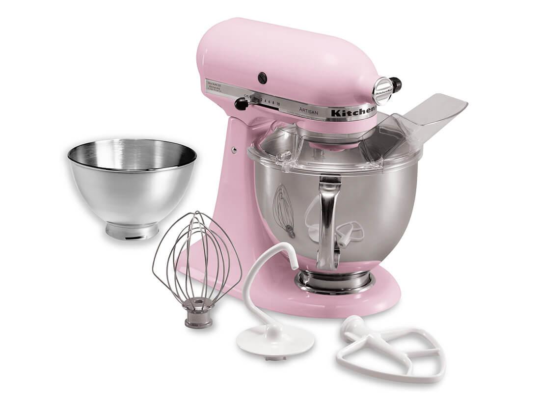 キッチンエイド 4.8LスタンドミキサーFGA付 ピンク