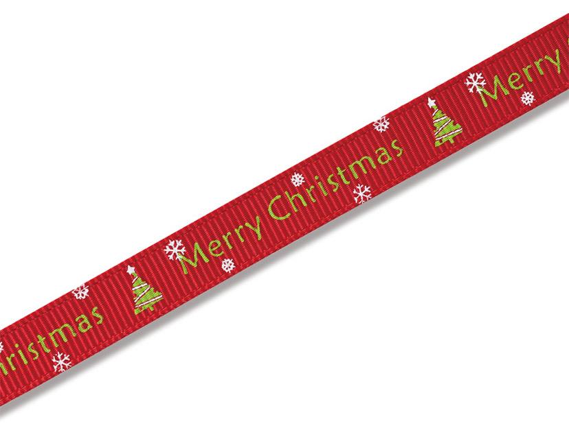 クリスマスプリントリボン メリークリスマスR 9mm