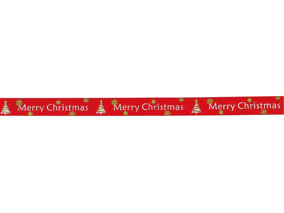 クリスマスリボン レッド 9mm