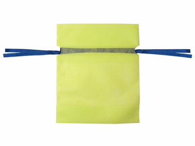不職布カラー巾着 M 黄緑