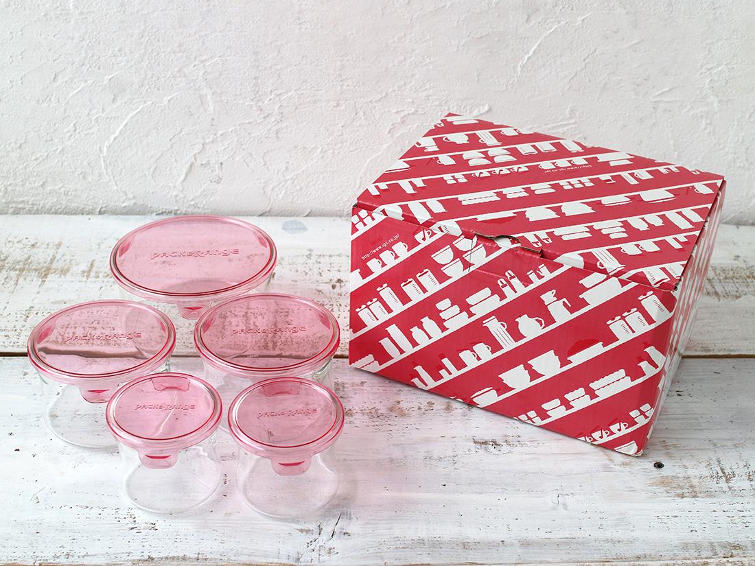 パック&レンジ丸型5点セット ピンク