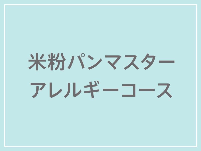 米粉パンマスターアレルギーコース受講料 20000円
