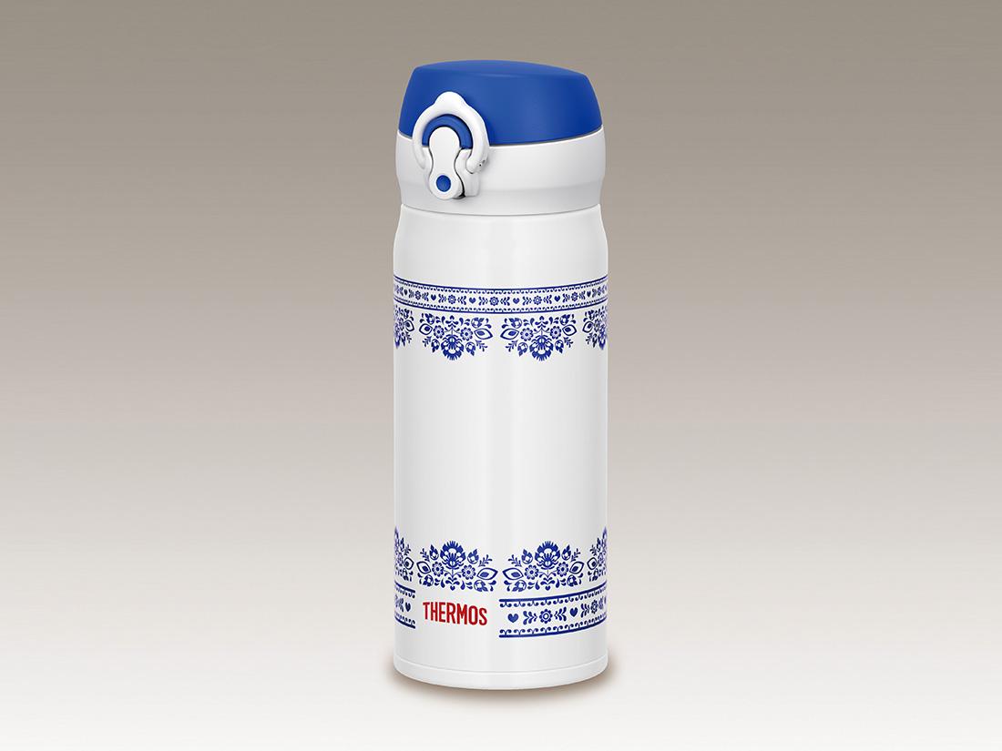 サーモス 真空断熱ケータイマグ ブルーホワイト 400ml