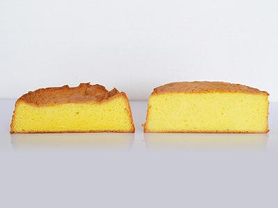 パウンドケーキ しぼむ