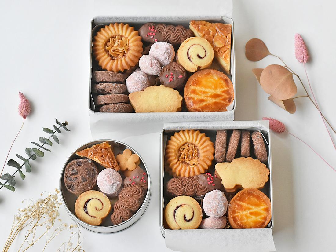 かわいい クッキー 缶